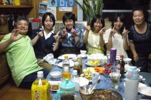 民泊夕食2
